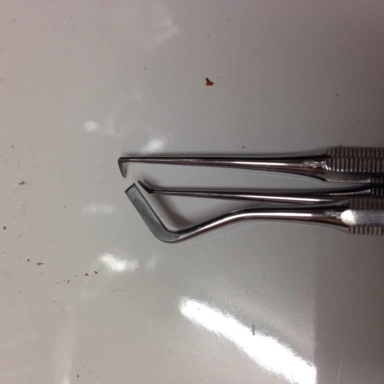Used Cavity Prep Instrument Set